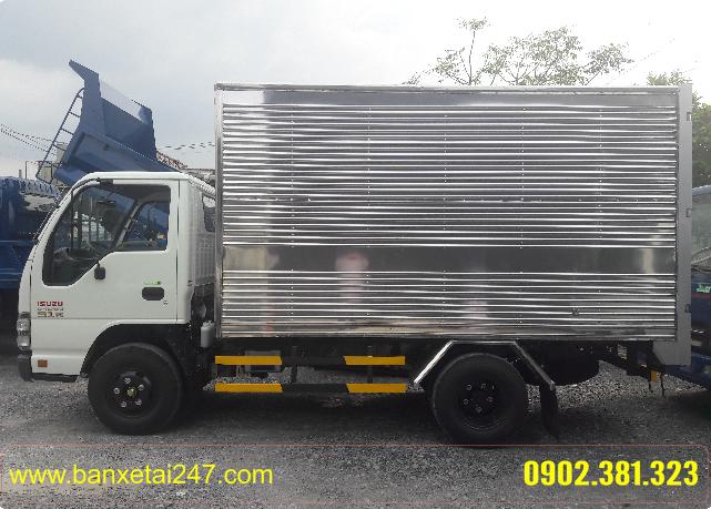 Isuzu thùng Kín tải trọng 2t4 QKR55F tổng tải 4t9