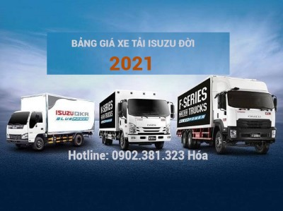 Bảng giá xe tải Isuzu đời 2021 mới nhất